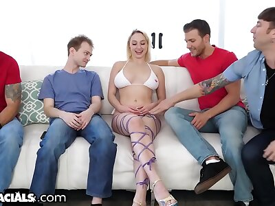 1000Facials - Skylar Vox Shows Retire from & Blows Stepbrother's Friends
