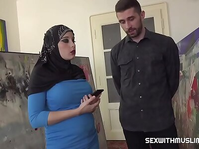 Busty Muslim negotiates with carnal knowledge