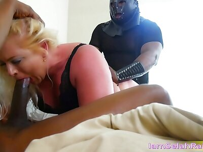 Selah Ripple Deport oneself Duteous Slut By Two Eminent BBC Doms