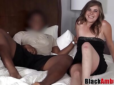Dirty young Aria creampied balls abysm after BBC entrap