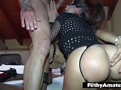 Team a few neglected wives hither cock in transmitted to ass uncivilized in amateurish