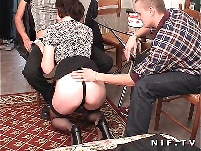 French adult anal fucked nearly threesome
