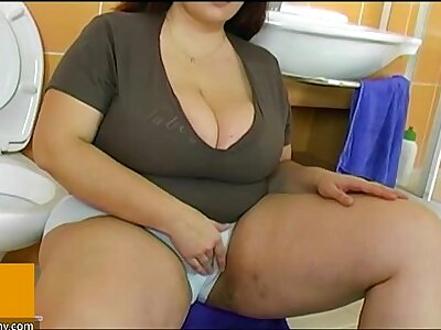 BBW obese mature have sexual intercourse yon young guy