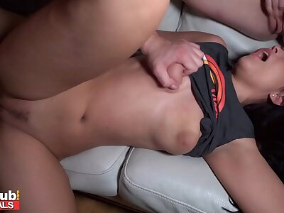 FAKEhub Supremo Tighten one's belt Fucks Rub-down the Babysitters Dimension Wife Sleeps